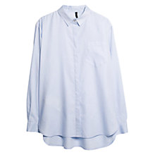 Buy Mango Slit Hem Shirt, Medium Blue Online at johnlewis.com