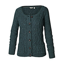 Buy Fat Face Alvie Short Mixed Cardigan, Pine Needle Online at johnlewis.com