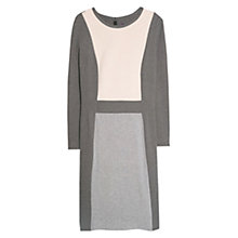 Buy Violeta by Mango Tricolour Ponte Dress, Dark Grey Online at johnlewis.com