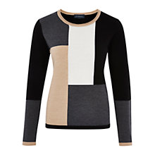 Buy Viyella Colour Block Jumper, Multi Online at johnlewis.com