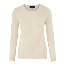 Buy Viyella Petite Seed Bead Cable Jumper, Cream Online at johnlewis.com
