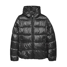 Buy Mango Foldable Water Repellent Jacket, Dark Grey Online at johnlewis.com