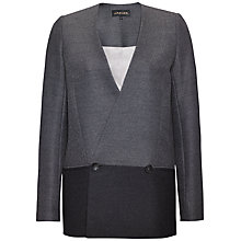 Buy Jaeger Colour Block Jacket, Navy / Dark Grey Online at johnlewis.com