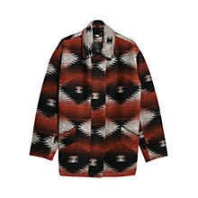 Buy Mango Wool Blend Cocoon Coat, Dark Red Online at johnlewis.com