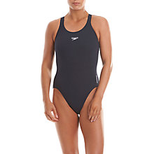 Buy Speedo Endurance+ Medalist Swimsuit, Navy Online at johnlewis.com