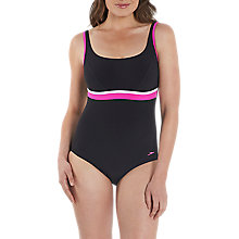 Buy Speedo Sculpture Contour One Piece Swimsuit, Black/White Online at johnlewis.com
