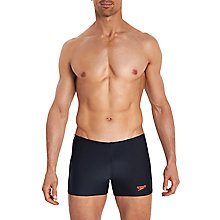 Buy Speedo 7cm Aquashort Swim Shorts, Black Online at johnlewis.com