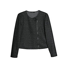 Buy Mango Herringbone Jacket, Dark Grey Online at johnlewis.com