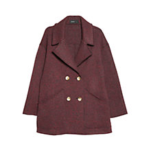 Buy Mango Unstructured Coat, Bright Red Online at johnlewis.com
