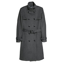 Buy Mango Double-Breasted Coat, Medium Grey Online at johnlewis.com