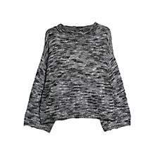Buy Mango Flecked Sweater, Dark Grey Online at johnlewis.com