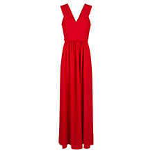 Buy Mango Long Draped Dress, Bright Red Online at johnlewis.com