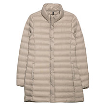 Buy Mango Foldable Feather Coat, Light Pastel Brown Online at johnlewis.com
