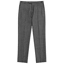 Buy Reiss Bronte Melange Wool Blend Trousers, Black Online at johnlewis.com