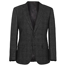 Buy Reiss Steel Check Slim Fit Blazer, Black Online at johnlewis.com