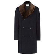 Buy Reiss Brody Shawl Collar Coat, Navy Online at johnlewis.com