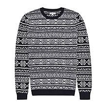 Buy Reiss Fair Isle Snow Jumper, Navy Online at johnlewis.com