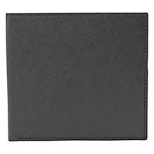 Buy Reiss Gillis Textured Leather Foldover Wallet, Black Online at johnlewis.com