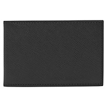 Buy Reiss Fox Textured Leather Card Holder, Black Online at johnlewis.com