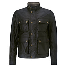 Buy Belstaff Burgess Blouson Waxed Jacket, Black Online at johnlewis.com