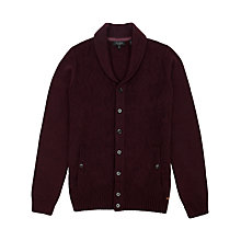 Buy Ted Baker Zigtop Shawl Knit Cardigan, Dark Red Online at johnlewis.com
