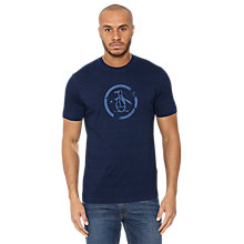 Buy Original Penguin Circle Logo T-Shirt, Rinse Wash Online at johnlewis.com