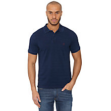 Buy Original Penguin Slim Fit Dye Polo Shirt, Dark Blue Online at johnlewis.com