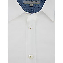 Buy Ted Baker Plainlo Floral Trim Shirt Online at johnlewis.com