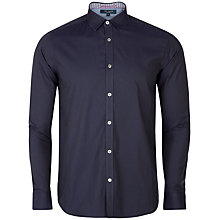 Buy Ted Baker Plainlo Shirt, Navy Online at johnlewis.com