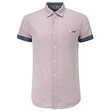 Buy Armani Jeans Short Sleeve Micro Check Shirt, Red Online at johnlewis.com