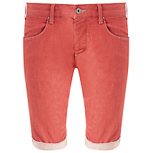 Buy Armani Jeans Selvedge Cotton Stretch Jean Shorts, Red Rinse Wash Online at johnlewis.com