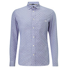 Buy Armani Jeans Fantasia Long Sleeve Shirt, Blue Online at johnlewis.com