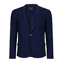 Buy Armani Jeans Pique Slim Fit Blazer, Navy Online at johnlewis.com