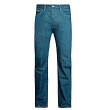 Buy Armani Jeans J21 Straight Jeans, Mid Blue Online at johnlewis.com