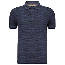 Buy Armani Jeans All-Over Logo Print Polo Shirt, Navy Online at johnlewis.com