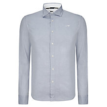 Buy Armani Jeans Plain Oxford Shirt, Blue Online at johnlewis.com