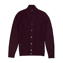 Buy Ted Baker Askham Wool Blend Cardigan, Deep Purple Online at johnlewis.com