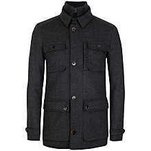 Buy Ted Baker Twinjak Wool Coat, Charcoal Online at johnlewis.com