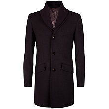 Buy Ted Baker Balon Wool Coat, Dark Red Online at johnlewis.com