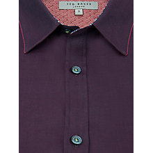 Buy Ted Baker Plainlo Floral Trim Shirt, Red Online at johnlewis.com