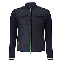 Buy Armani Jeans Light Short Bomber Jacket, Navy Online at johnlewis.com