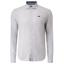 Buy Armani Jeans Fine Stripe Shirt, Red/Blue Online at johnlewis.com