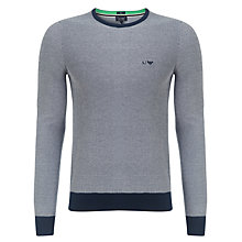 Buy Armani Jeans Cotton Crew Neck Sweatshirt, Grey Online at johnlewis.com