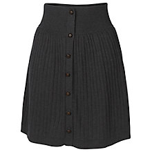 Buy Fat Face Carrie Knit Cotton Pleat Skirt, Phantom Online at johnlewis.com