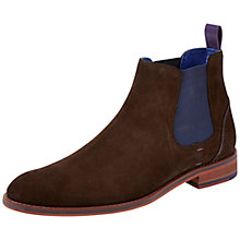 Buy Ted Baker Camroon Suede Chelsea Boots, Brown Online at johnlewis.com