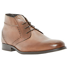 Buy Dune Merlin Leather Chukka Boots, Tan Online at johnlewis.com
