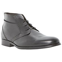 Buy Dune Merlin Leather Chukka Boots, Black Online at johnlewis.com