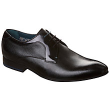 Buy Ted Baker Gorrden Crosshatch Leather Lace-Up Derby Shoes, Black Online at johnlewis.com