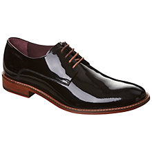 Buy Ted Baker Irron Etter 4 Leather Derby Shoes, Black Patent Online at johnlewis.com
