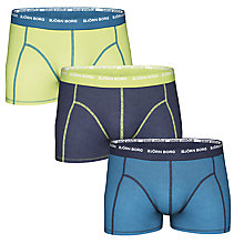 Buy Bjorn Borg Contrast Waistband Logo Trunks, Pack Of 3 Online at johnlewis.com